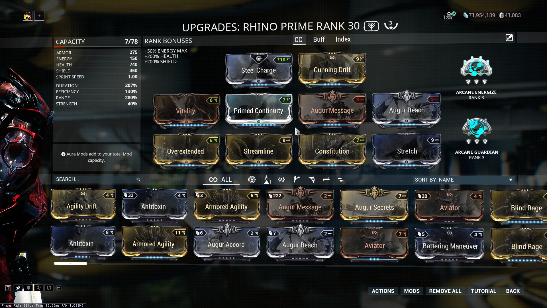 Best Build for Rhino? - Players helping Players - Warframe Forums