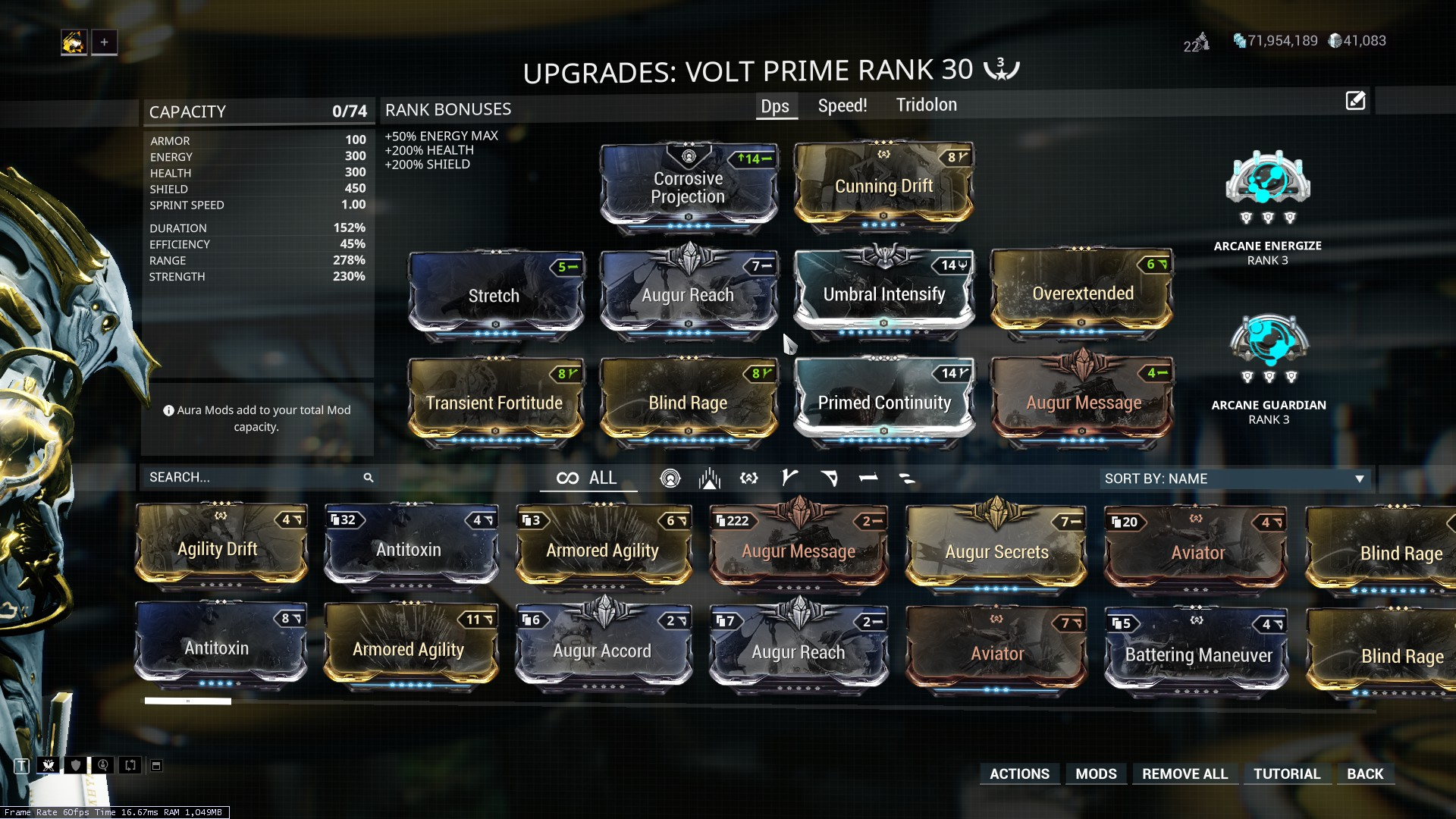 Volt's optimal DPS build - Warframes - Warframe Forums
